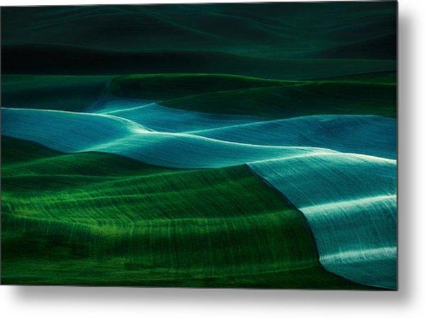 Twilight Palouse Metal Print