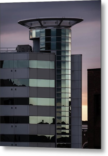 Twilight Reflection - Radisson Plaza Hotel Metal Print