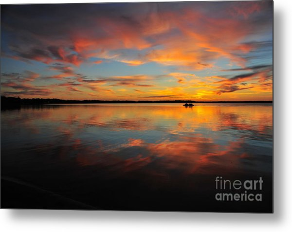 Twilight Reflection Metal Print