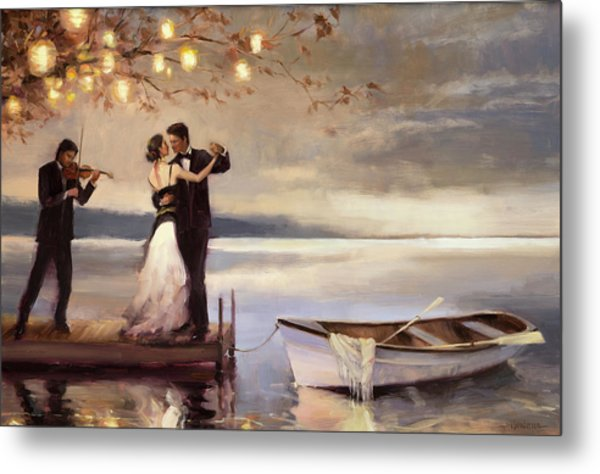 Metal Print featuring the painting Twilight Romance by Steve Henderson
