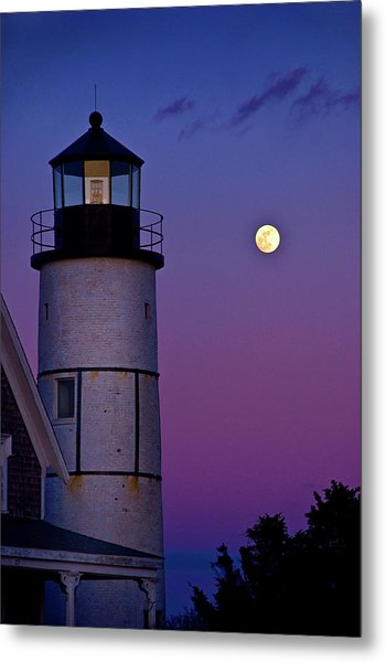 Twilight At Sandy Neck Lighthouse Metal Print