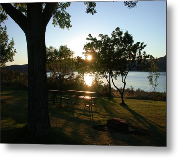 Twilight Sun Metal Print