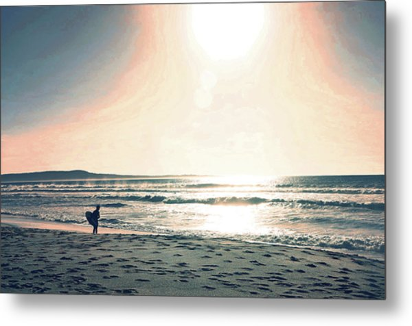 Metal Print featuring the photograph Twilight Surf by Pacific Northwest Imagery