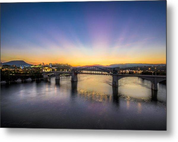 Twilight View, Chattanooga Metal Print