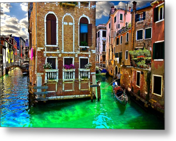 Twin Canals Metal Print