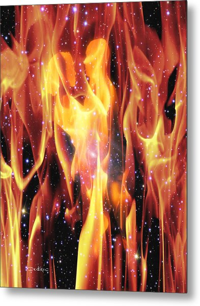 Metal Print featuring the digital art Twin Flames by Dedric Artlove W