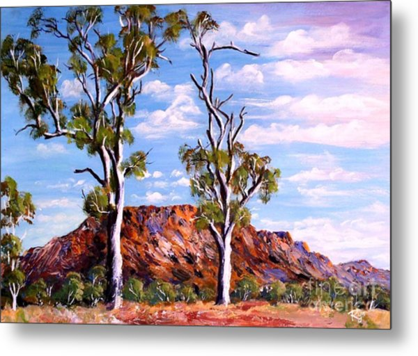 Twin Ghost Gums Of Central Australia Metal Print