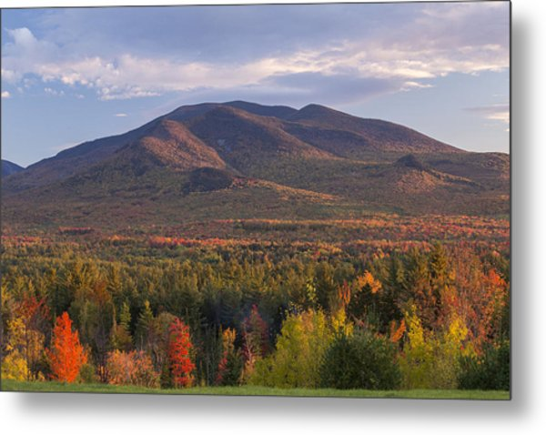 Twin Mountain Autumn Sunset Metal Print