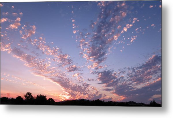 Twin Sisters Sunset Metal Print