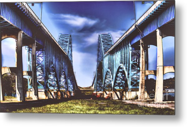 Twin Spanned Arched Metal Print