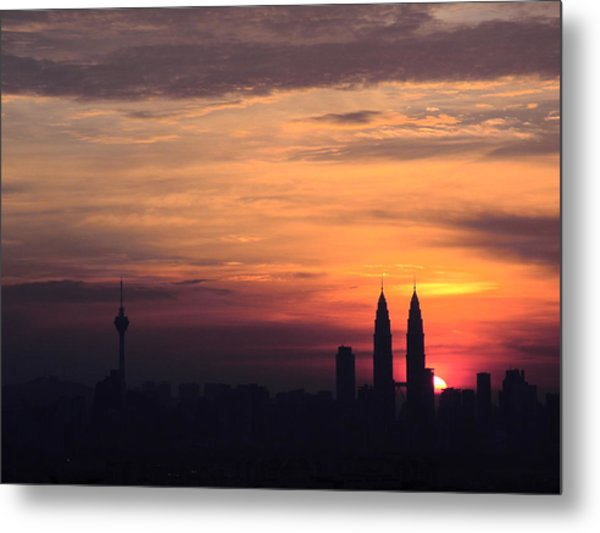 Twin Tower Metal Print