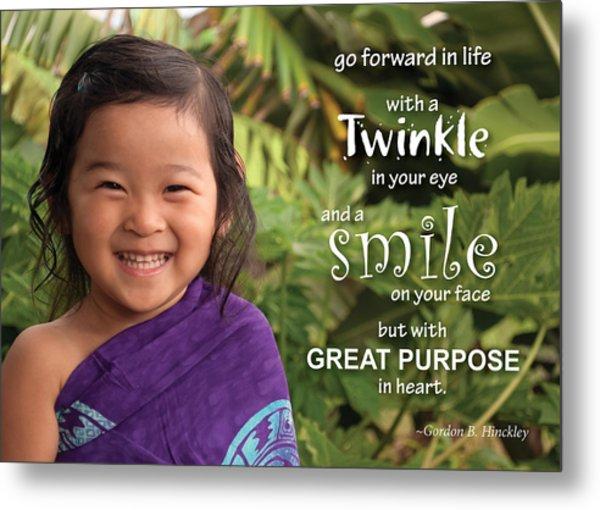 Twinkle Smile Metal Print