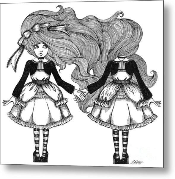 Twins Alice Metal Print