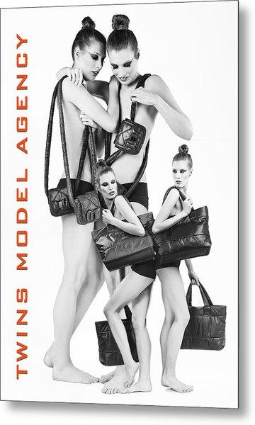 Twins Model Agency Metal Print