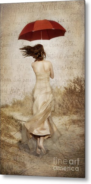Twirling Painted Lady Metal Print