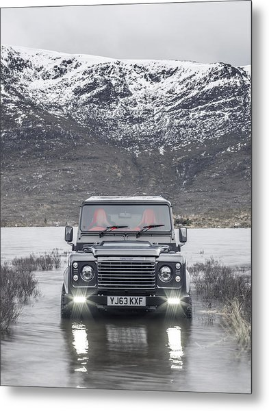 Twisted Land Rover Defender Metal Print