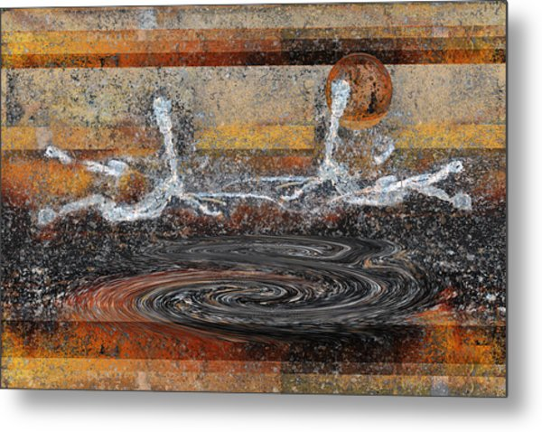 Metal Print featuring the digital art Two Another World by rd Erickson