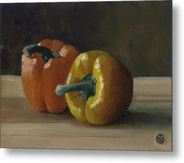 Two Bell Peppers Metal Print