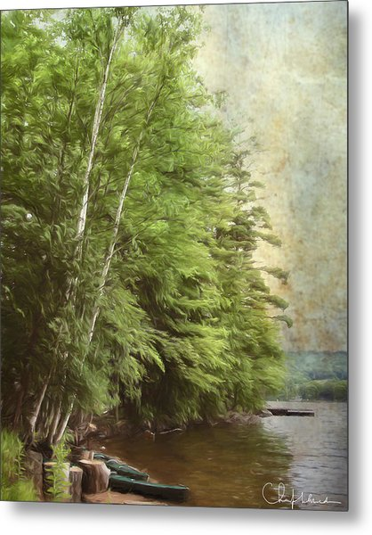 Two Birches Metal Print