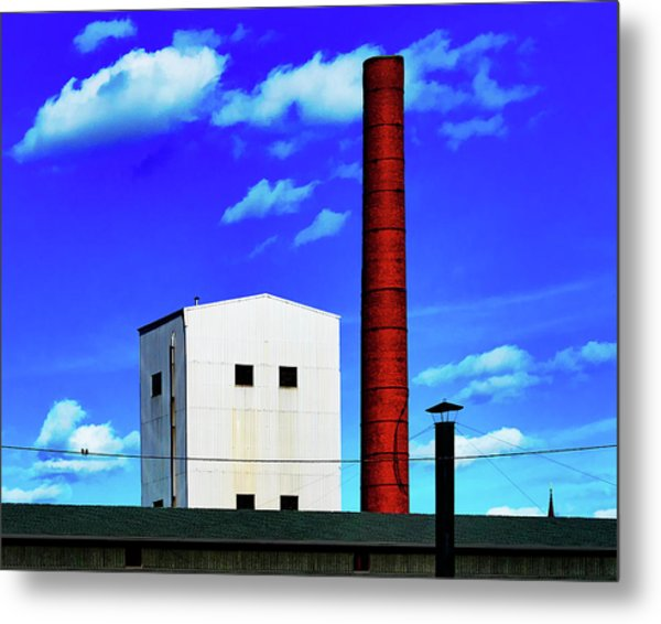 Metal Print featuring the photograph Two Birds On A Wire In Paterson by Chris Lord