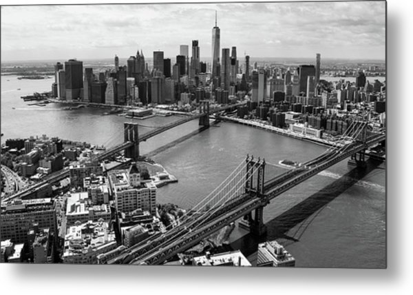 Metal Print featuring the photograph Two Bridges by Rand