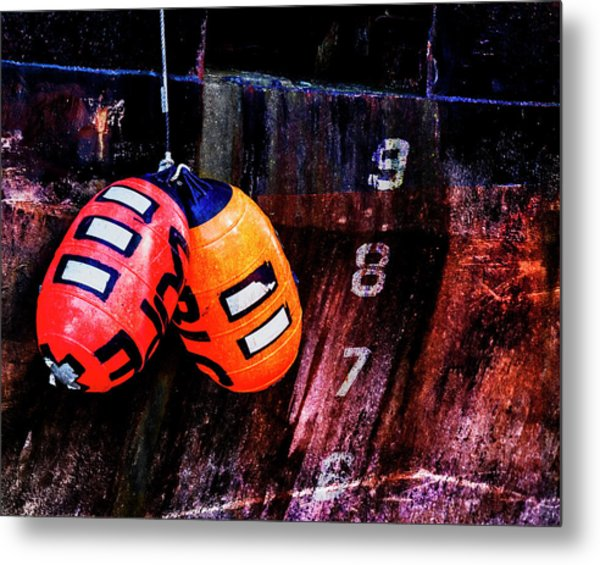 Two Buoys Left Of Depth Metal Print