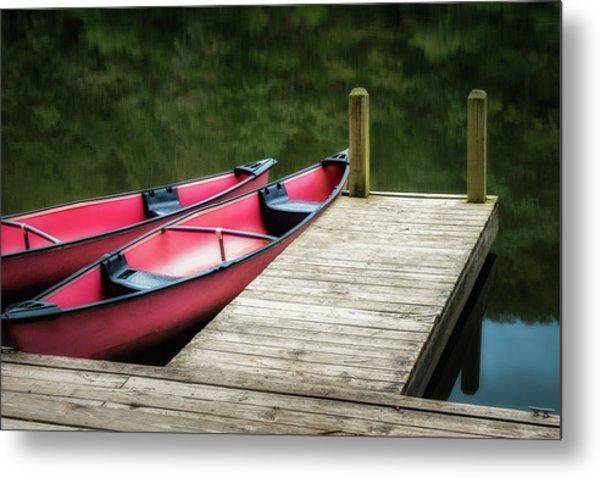 Two Canoes Metal Print