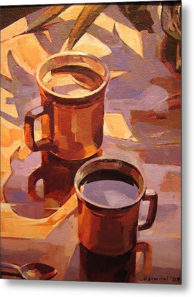 Two Coffees Metal Print