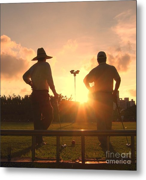 Two Croquet Players Metal Print