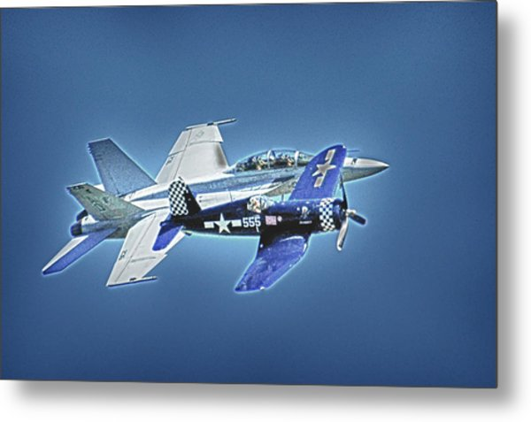 Two Fighters 01 Metal Print