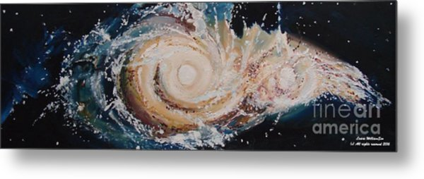 Two Galaxies Colliding Metal Print