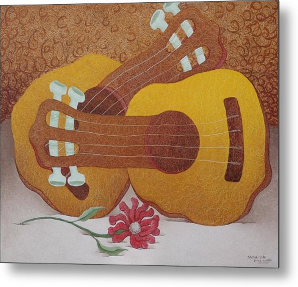 Two Guitars Metal Print by S A C H A -  Circulism Technique