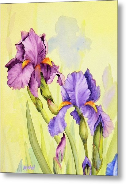 Two Irises  Metal Print