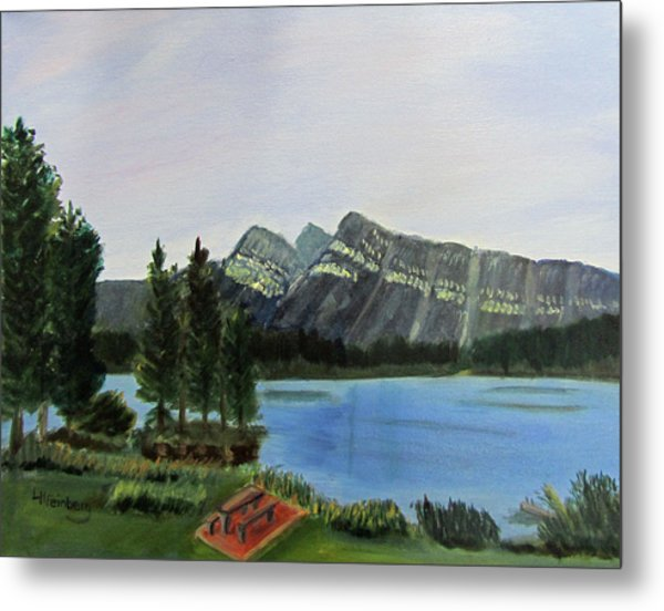Metal Print featuring the painting Two Jack Lake by Linda Feinberg