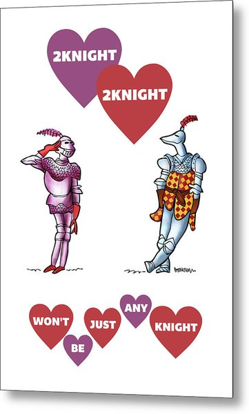 Metal Print featuring the digital art Two Knight Two Knight by Mark Armstrong