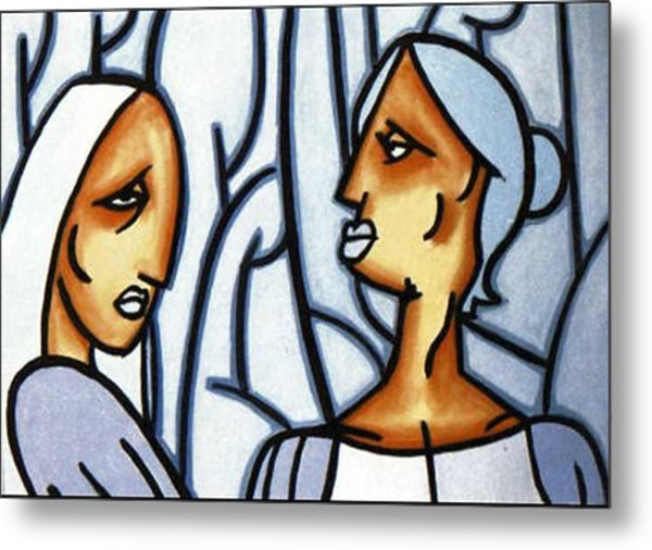 Two Ladies Metal Print