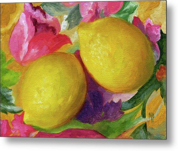 Two Lemons Metal Print by Marina Petro