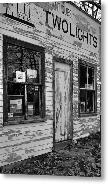 Two Lights Storefront Metal Print