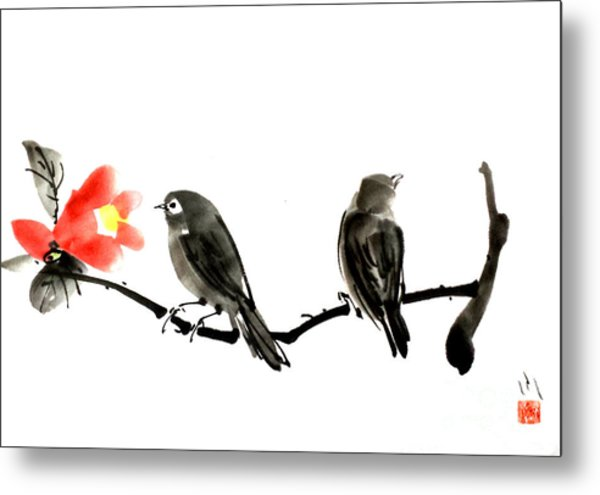Two Little Birds Metal Print