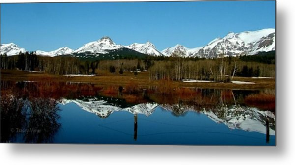 Two Med River Reflection Metal Print