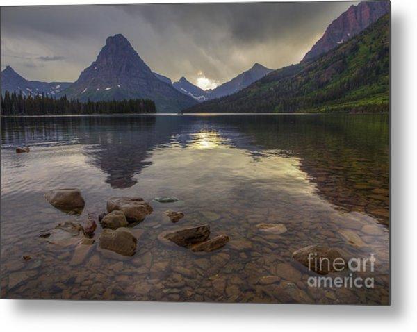 Two Medicine Lake And Sinopah Mountain Metal Print