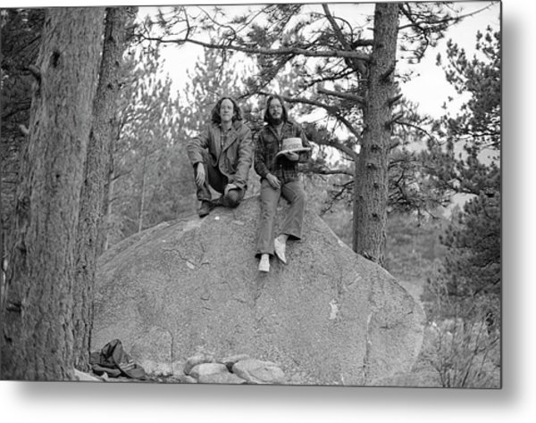 Two Men On A Boulder In The American West, 1972 Metal Print