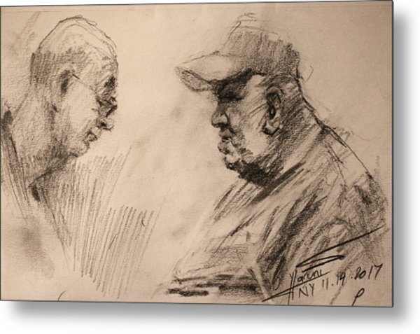 Two Men Metal Print