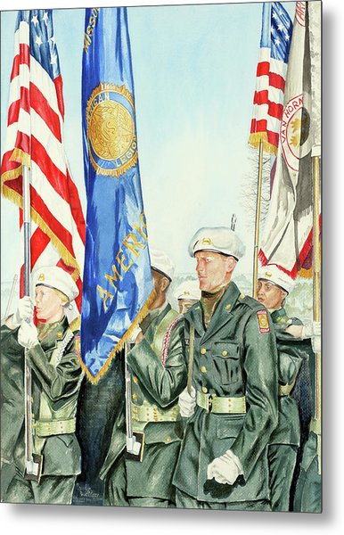 Two Months After 9-11  Veteran's Day 2001 Metal Print