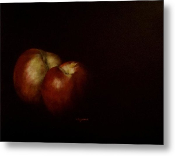 Two Nectarines Metal Print