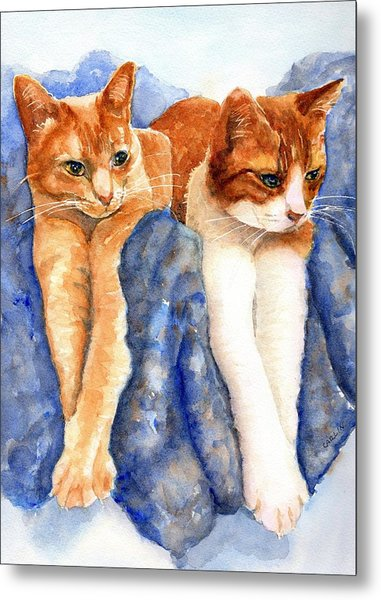Two Orange Tabby Cats Metal Print