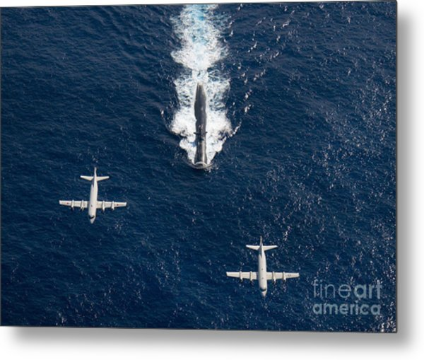 Two P-3 Orion Maritime Surveillance Metal Print