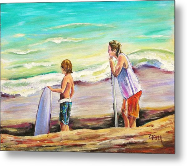 Two Perfect Waves Metal Print