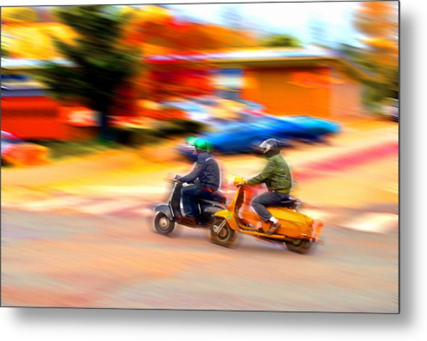 Two Scooters Metal Print by Craig Perry-Ollila