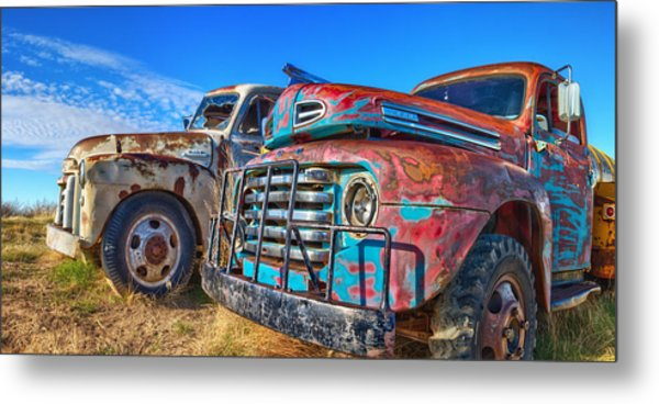 Two Trucks Metal Print